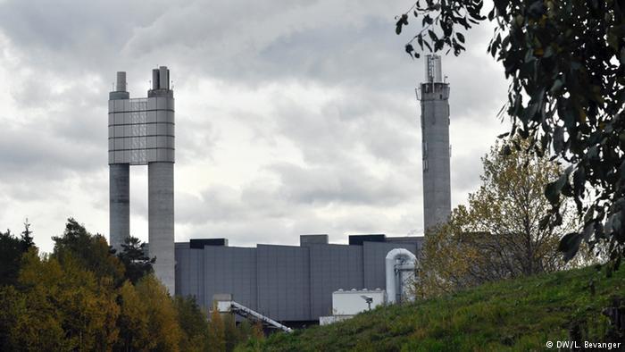 Waste incineration plant in Klemetrud, Norway (DW/L. Bevanger)