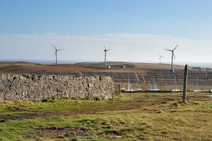 The three windturbines will be supported by solar panels and massive battery packs. PIC: Contributed.
